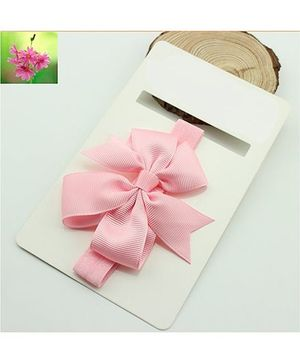 Cherry Blossoms Bow Hairband - Pink