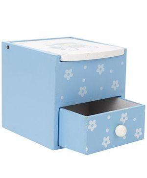 Wooden Drawer Design Pen Stand - Blue