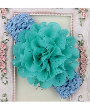 Pikaboo Headband Floral Applique - Sea Green