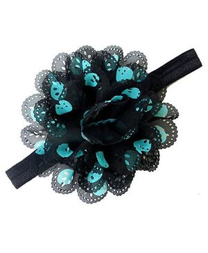Pikaboo Headband Floral Applique - Black
