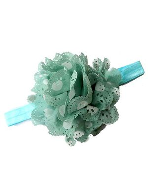 Pikaboo Headband Floral Applique - Light Blue