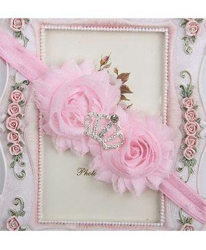 Pikaboo Headband Crown Applique - Pink