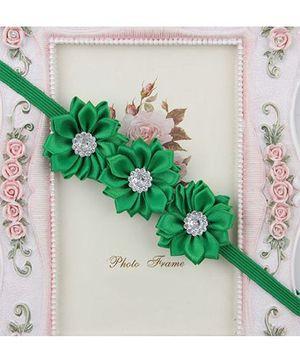 Pikaboo Headband Floral Applique - Green