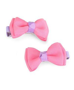 Angel Closet Hair Clips - Pink & Purple