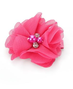 Angel Closet Floral Shape Hair Clip - Pink