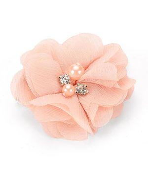 Angel Closet Floral Shape Hair Clip - Peach