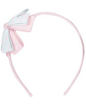 Angel Closet-Hair Bands Aqua Blue & Pink