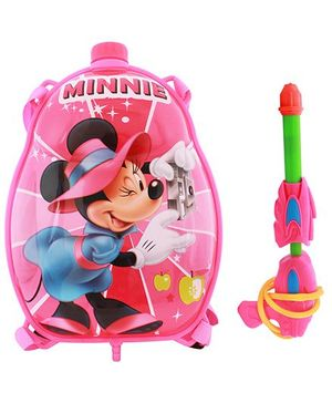 DealBindaas Holi Water Pichkari Back Pack Cartoon Tank Squirter F11 - Pink