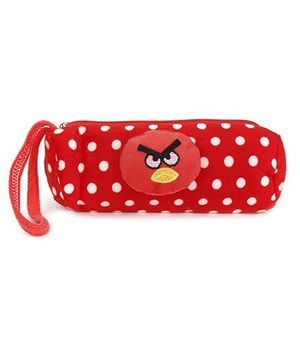 Pencil Pouch Polka Dot - Red