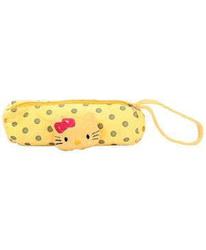 Pencil Pouch Kitty Applique - Yellow