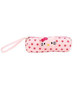 Pencil Pouch Kitty Applique - Light Pink