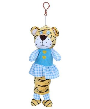 Clip On Pencil Pouch Tiger Design - Yellow Blue