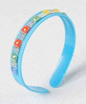Treasure Trove Stone Studded Hair Band - Blue