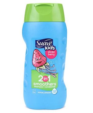 Suave Kids Strawberry Smoothers 2-in-1 Shampoo & Conditioner - 355 ml