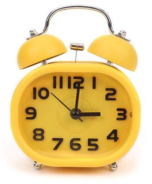Rectangular Shape Alarm Clock - Yellow
