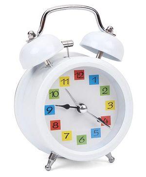 Round Shaped Alarm Clock - White