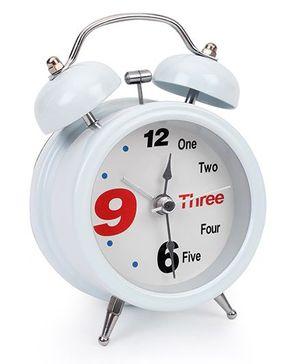One To Three Print Alarm Clock - White