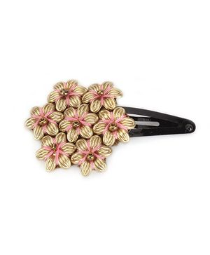 Funkrafts Ethnic Hair Clip - Pink & Gold