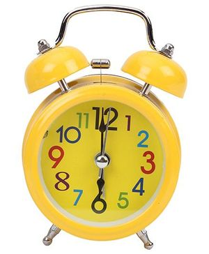 Round Shaped Alarm Clock - Yellow