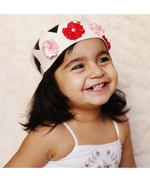 D'chica Felt Tiara with Flower - Multicolor