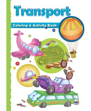 Macaw Shaped Coloring And Activity Book Transport - English