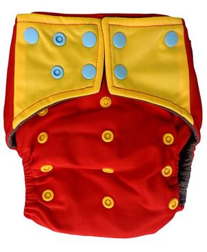 ChuddyBuddy All In One Cloth Diaper With Insert Stitched Inside Print - Royal Red