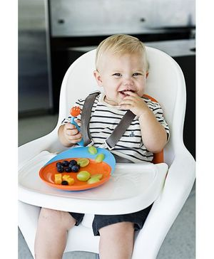 Boon Catch Plate with Suction Cup Base - Blue and Orange
