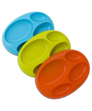 Boon Platter - Green, Blue and Orange