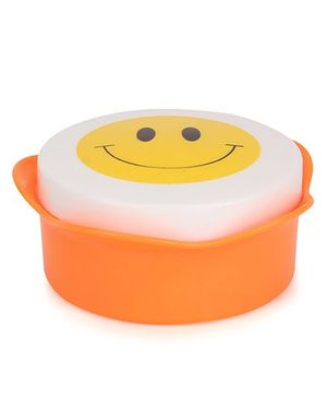 Collapsible Cup Smiley Design - White Orange