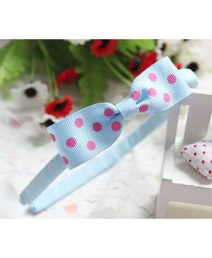 Pikaboo Hair Band Bow Applique - Light Blue