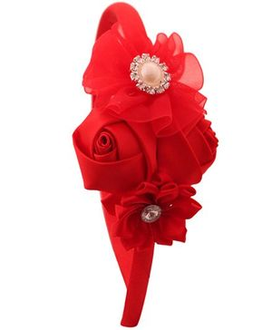 Pikaboo Roses And Pearls Hairband - Red