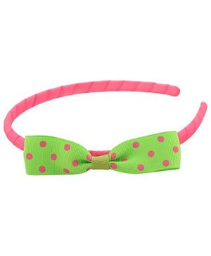Pikaboo Hair Band Bow Applique - Light Green