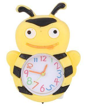 Analog Wrist Watch Honeybee Shape Dial - Yellow