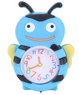 Analog Wrist Watch Honeybee Shape Dial - Light Blue