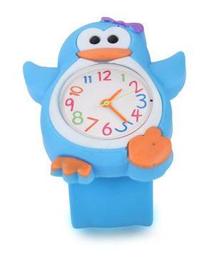 Analog Wrist Watch Penguin Shape Dial - Blue