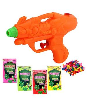 DealBindaas Holi Water Pichkari Squirter 2017 With Gulaal And Balloons Assorted Colour