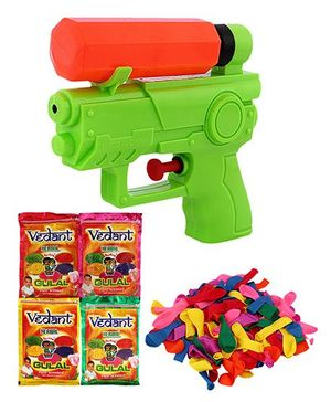DealBindaas Holi Water Hero Squirter With Gulaal Balloons Assorted Colour