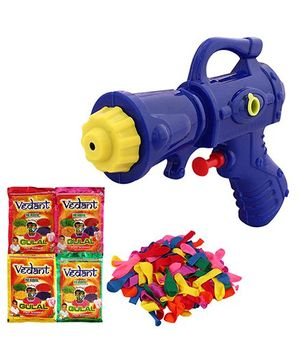DealBindaas Holi Water Squirter 987 With Gulaal Balloons Assorted Colour