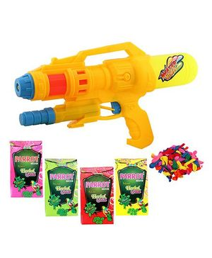 DealBindaas Holi Water Squirter 028 With Gulaal Balloons Assorted Colour