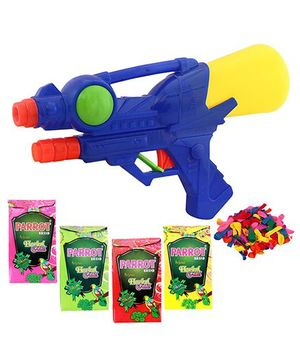 DealBindaas Holi Water Squirter 0958 With Gulaal Balloons Assorted Colour