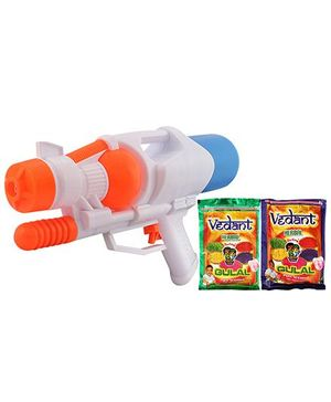 DealBindaas Holi Water Pichkari Shape Squirter LY802 With 2 Assorted Colors Of Gulal