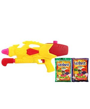 DealBindaas Holi Water Pichkari Shape Squirter M86 With 2 Assorted Colors Of Gulal