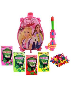 DealBindaas Holi Water Pichkari Back Pack Cartoon Tank Squirter F21 With 2 Assorted Colors Of Gulal & 1 Packet Of Balloons