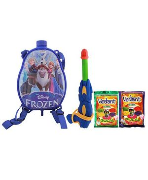 DealBindaas Holi Water Pichkari Back Pack Cartoon Tank Squirter F29 With 2 Assorted Colors Of Gulal