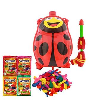 DealBindass Holi Pichkari Tank Squirter With Gulal And Balloons - Assorted Colors