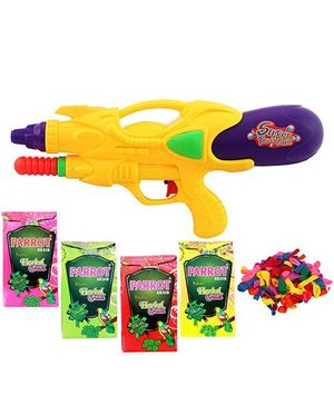 DealBindaas Holi Pichkari Water Gun With Total Gulal And Balloons - Assorted Colors