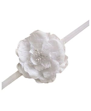 Bellazaara Trendy Headband For Little Girls - White