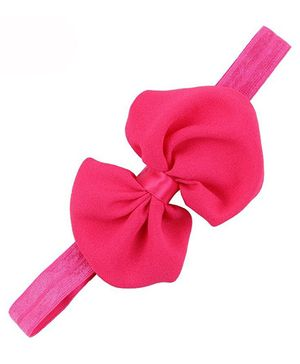 Bellazaara Trendy Headband For Little Girls - Hot Pink