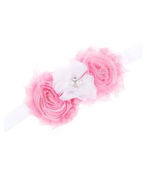 Bellazaara Trendy Headband For Little Girls - Pink & White