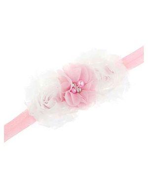 Bellazaara Trendy Headband For Little Girls - White & Pink